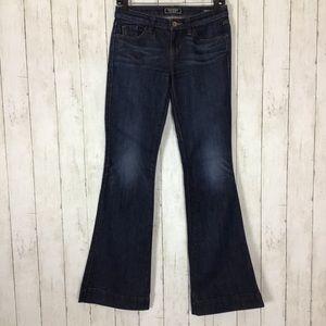 Guess Brittney Flare Leg Jeans Dark Wash Blue